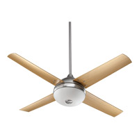 Quorum International Orbit 3 Light Outdoor Ceiling Fan in Satin Nickel 18524-65