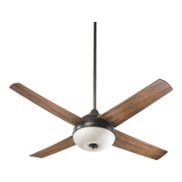 Quorum International Orbit 3 Light Outdoor Ceiling Fan in Oiled Bronze 18524-86