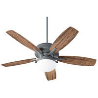 Quorum 18525-17 Eden 52 inch Zinc with Walnut Blades Patio Fan