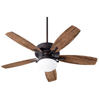 Quorum 18525-44 Eden 52 inch Toasted Sienna with Walnut Blades Patio Fan