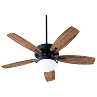 Quorum 18525-69 Eden 52 inch Noir with Walnut Blades Patio Fan