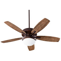 Eden 52 inch Oiled Bronze with Walnut Blades Patio Fan