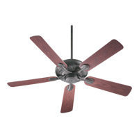 Quorum 191525-44 Pinnacle Patio 52 inch Toasted Sienna with Rosewood Blades Outdoor Ceiling Fan