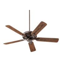 Quorum 191525-86 Pinnacle Patio 52 inch Oiled Bronze with Walnut Blades Outdoor Ceiling Fan