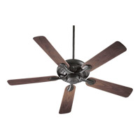 Quorum International Pinnacle Patio Outdoor Ceiling Fan in Old World with Walnut Blades 191525-95