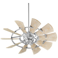 Quorum 194410-9 Windmill 44 inch Galvanized with Weathered Oak Blades Patio Fan