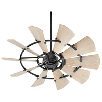 Quorum 195210-69 Windmill 52 inch Noir with Weathered Oak Blades Patio Fan
