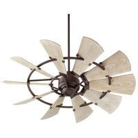 Quorum 195210-86 Windmill 52 inch Oiled Bronze with Weathered Oak Blades Patio Fan