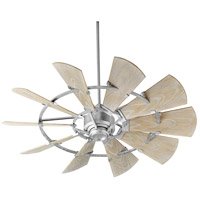 Windmill 52 inch Galvanized with Weathered Oak Blades Patio Fan