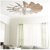 Quorum 195210-9 Windmill 52 inch Galvanized with Weathered Oak Blades Patio Fan  alternative photo thumbnail