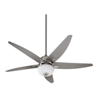 Quorum International Rockwell 2 Light Outdoor Ceiling Fan in Satin Nickel 19525-65