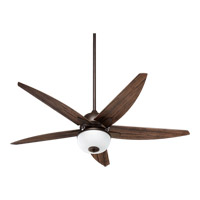 Quorum International Rockwell 2 Light Outdoor Ceiling Fan in Oiled Bronze 19525-86