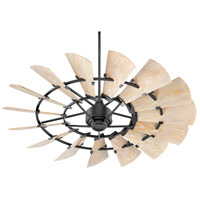 Quorum 196015-69 Windmill 60 inch Noir with Weathered Oak Blades Patio Fan