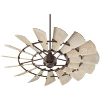 Quorum 196015-86 Windmill 60 inch Oiled Bronze with Weathered Oak Blades Outdoor Ceiling Fan  photo thumbnail