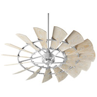 Quorum 196015-9 Windmill 60 inch Galvanized with Weathered Oak Blades Outdoor Ceiling Fan