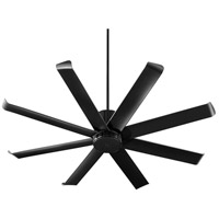 Quorum 196608-69 Proxima Patio 60 inch Noir with Matte Black Blades Patio Fan