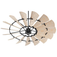 Quorum 197215-69 Windmill 72 inch Noir with Weathered Oak Blades Patio Fan