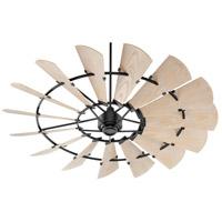 Quorum 197215-69 Windmill 72 inch Noir with Weathered Oak Blades Patio Fan