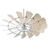 Quorum 197215-9 Windmill 72 inch Galvanized with Weathered Oak Blades Indoor Ceiling Fan