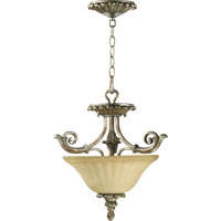 Quorum 2100-16-58 Barcelona 2 Light 16 inch Mystic Silver Dual Mount Ceiling Light