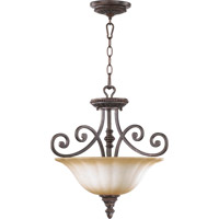 Quorum 2126-18-44 Summerset 3 Light 18 inch Toasted Sienna Dual Mount Ceiling Light