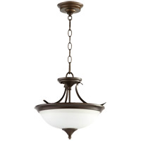 Flora 2 Light 14 inch Oiled Bronze Dual Mount Ceiling Light