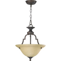 Quorum 215-44 Coventry 2 Light 13 inch Toasted Sienna Dual Mount Ceiling Light