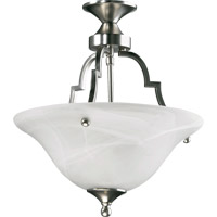 Coventry 2 Light 13 inch Satin Nickel Dual Mount Ceiling Light