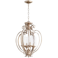 Quorum 2180-18-60 Chalon 4 Light 18 inch Aged Silver Leaf Dual Mount Ceiling Light