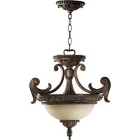 Madeleine 2 Light 18 inch Corsican Gold Dual Mount Ceiling Light