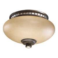 Quorum International Ashfield 2 Light Fan Light Kit in Walnut With Antique Flemish 2288-9124
