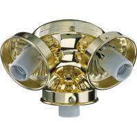 Quorum 2303-902 Signature 3 Light Polished Brass Fan Light Kit
