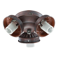 Quorum International Signature 3 Light Fan Light Kit in Cobblestone 2303-9033