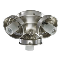 Quorum International Signature 3 Light Fan Light Kit in Satin Nickel 2303-9065