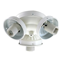 Quorum International Signature 3 Light Fan Light Kit in Studio White 2303-908