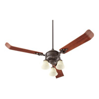 Quorum International Brewster 3 Light Fan Light Kit in Oiled Bronze Fan and Glass Not Included 2360-086