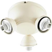 Quorum 2383-9067 Salon 3 Light Antique White Fan Light Kit