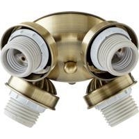 Quorum International Signature 4 Light Fan Light Kit in Antique Brass 2401-804