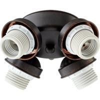 Quorum International Signature 4 Light Fan Light Kit in Toasted Sienna 2401-8044