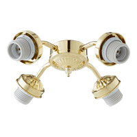 Quorum 2444-802 Signature 4 Light CFL Polished Brass Fan Light Kit