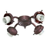 Quorum International Signature 4 Light Fan Light Kit in Cobblestone 2444-8033