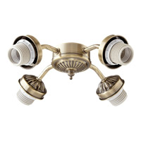 Quorum International Signature 4 Light Fan Light Kit in Antique Brass 2444-804