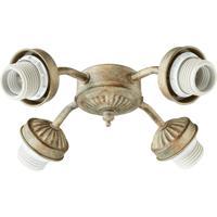 Quorum International Signature 4 Light Fan Light Kit in Mystic Silver 2444-8058