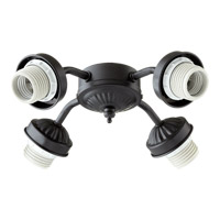 Quorum International Signature 4 Light Fan Light Kit in Matte Black 2444-8059