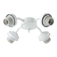 Quorum 2444-806 Signature 4 Light CFL White Fan Light Kit