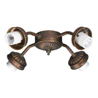 Quorum International Signature 4 Light Fan Light Kit in Corsican Gold 2444-8088