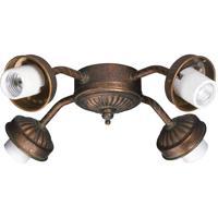 Quorum International Signature 4 Light Fan Light Kit in Corsican Gold 2444-8088