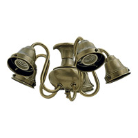 Quorum 2530-804 Signature 5 Light CFL Antique Brass Fan Light Kit