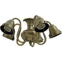 Quorum 2530-804 Signature 5 Light CFL Antique Brass Fan Light Kit