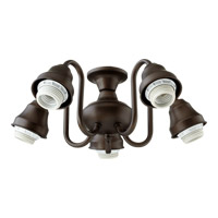 Quorum International Signature 5 Light Fan Light Kit in Oiled Bronze 2530-8086